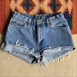 Vtg Ralph Lauren • Distressed High waisted shorts